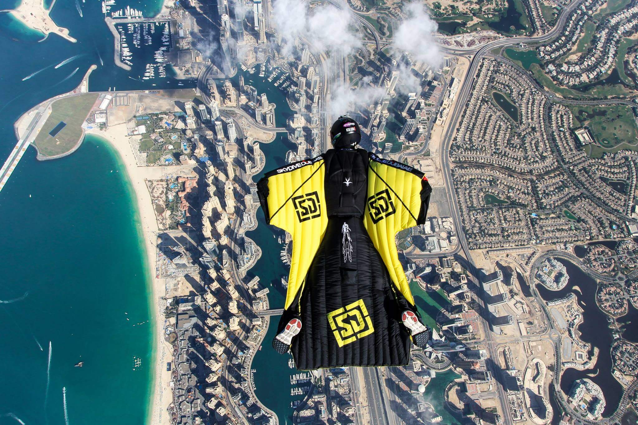Flying Over Skydive Dubai | Mirage Containers