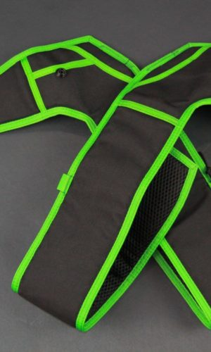 Black/Lime Green Replacement Leg Pads