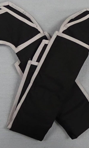 Black/Silver Replacement Leg Pads