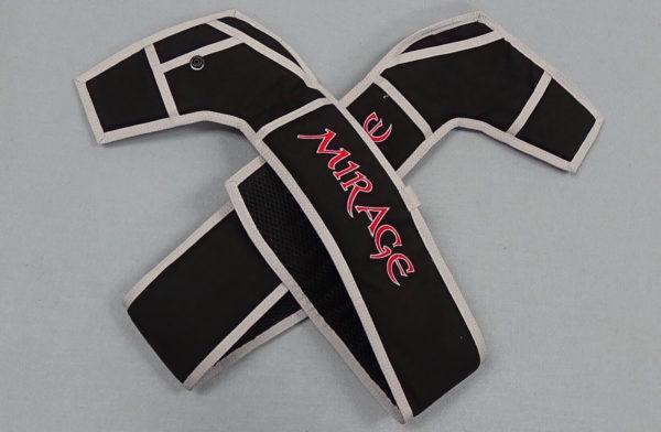 Black/Silver Replacement Leg Pads Mirage logo