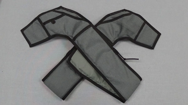 Charcoal/Black Replacement Leg Pads